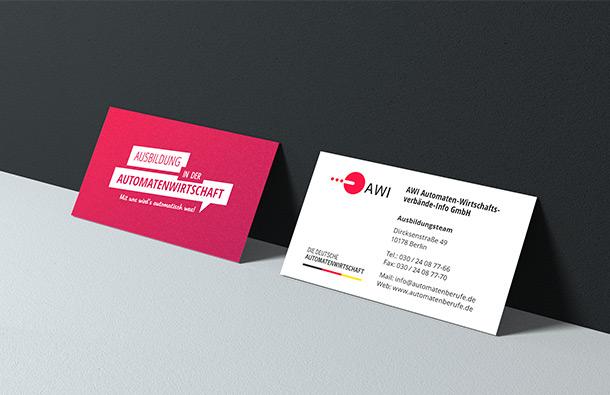 Ausbildung in der Automatenwirtschaft Visitenkarte