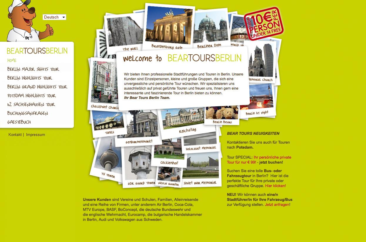 Bear Tours Berlin Webseite