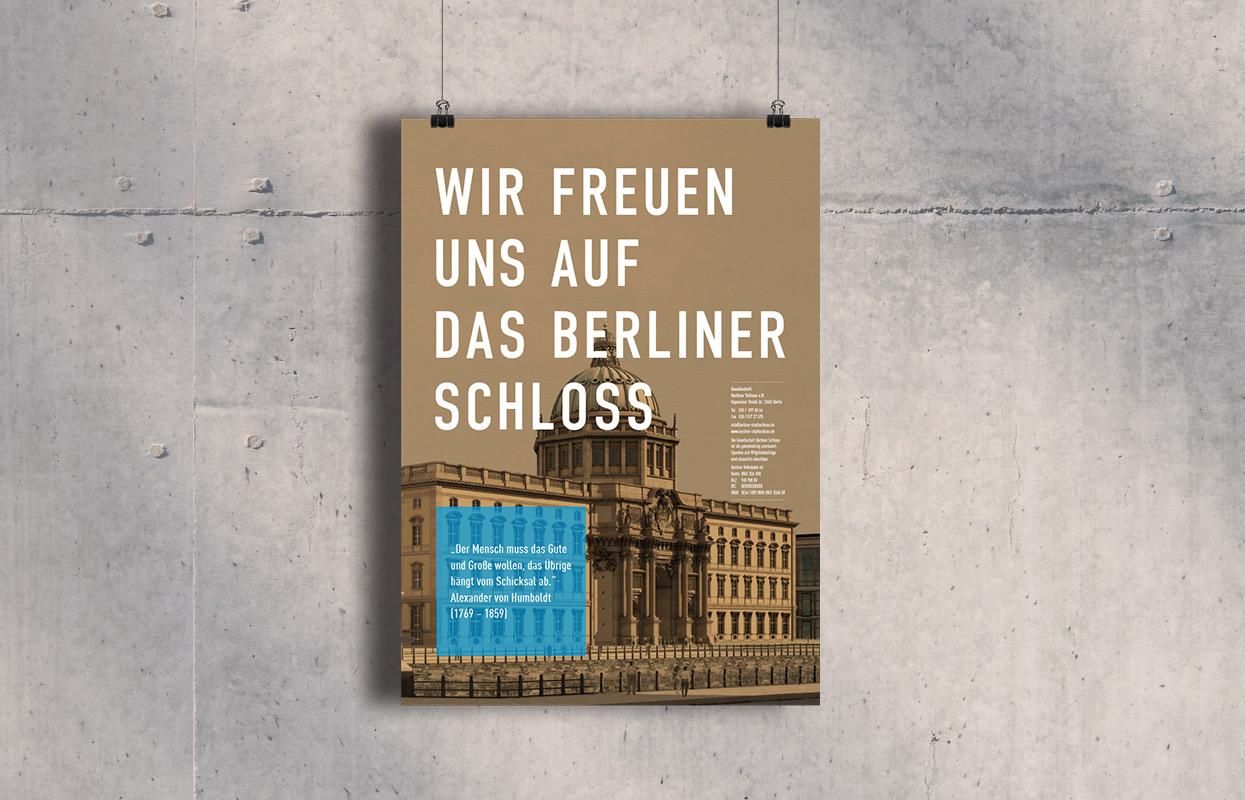 Berliner Schloss Plakat Design Spenden