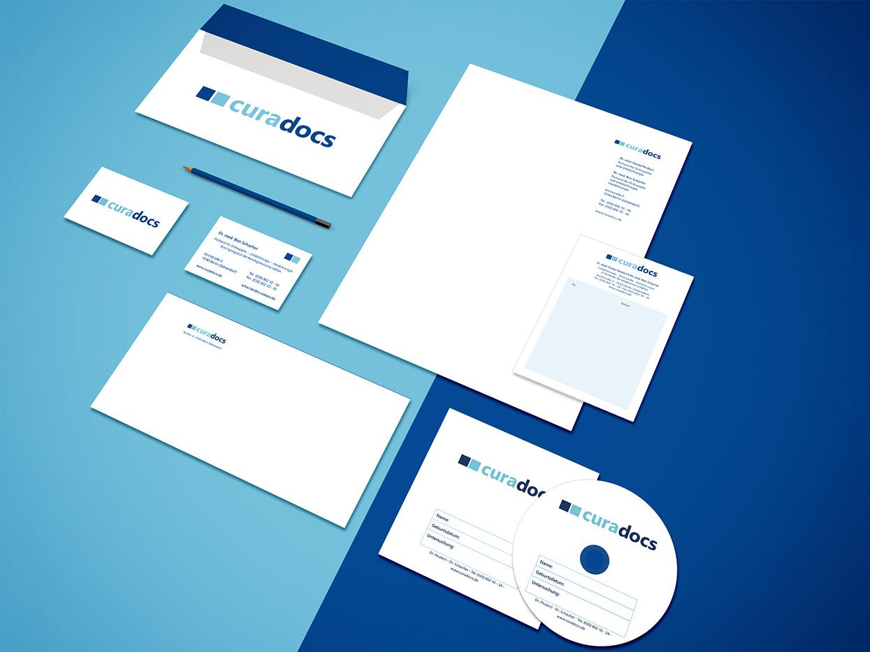 Curadocs Corporate Design Geschäftsausstattung
