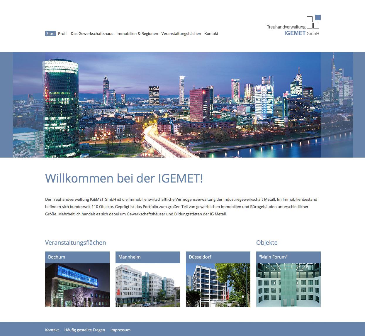 Igemet Treuhandverwaltungs GmbH Webseite