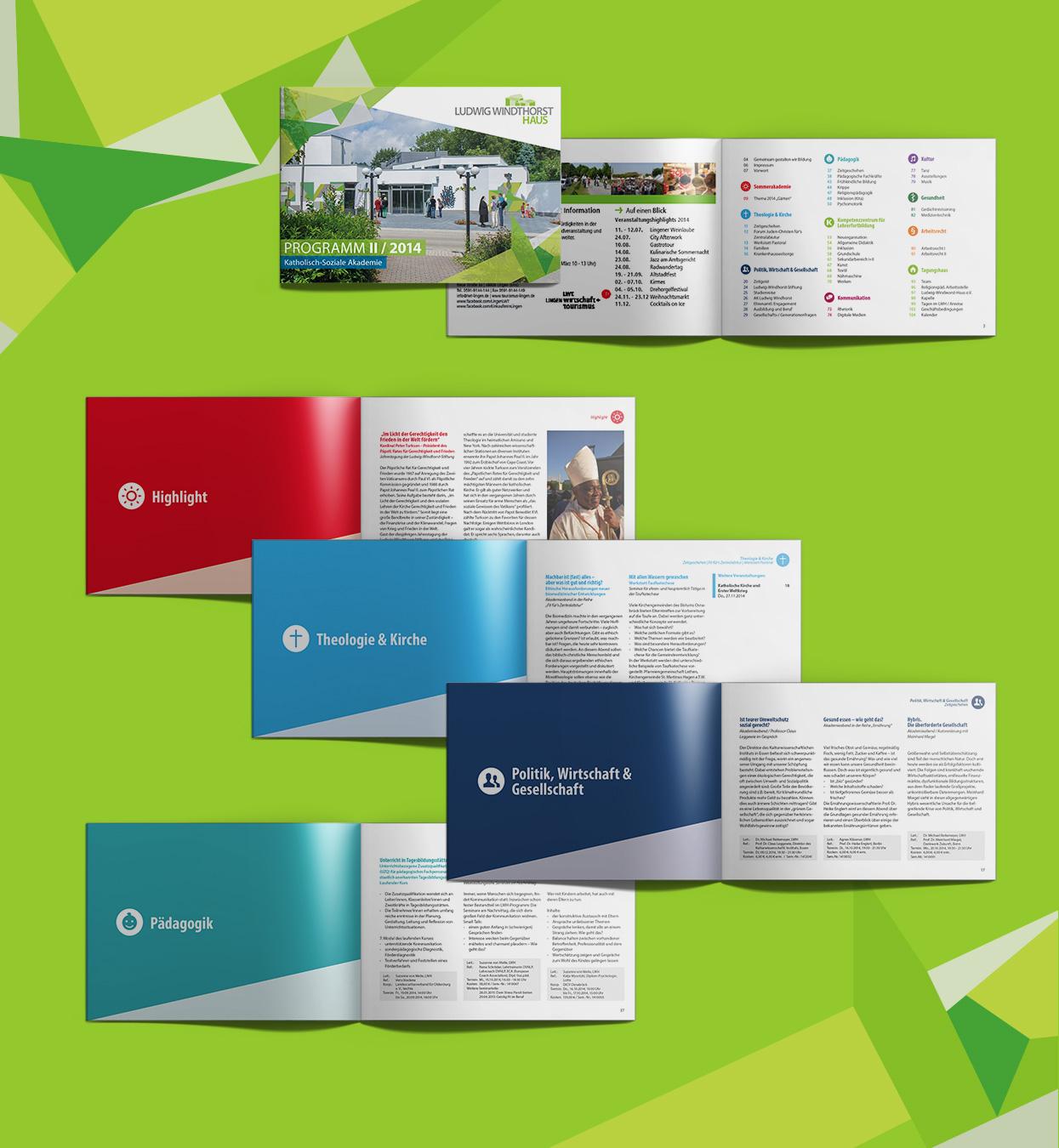 LWH Ludwig Windhorst Haus Lingen Halbjahresprogramm Broschüre Magazin Editorial Design