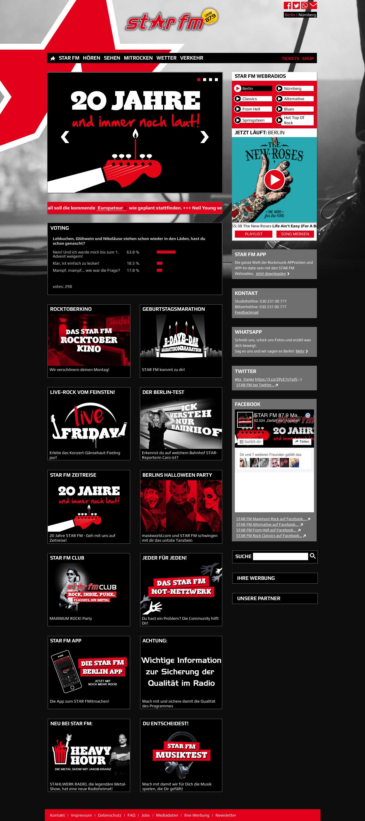 StarFm responsive Webdesign
