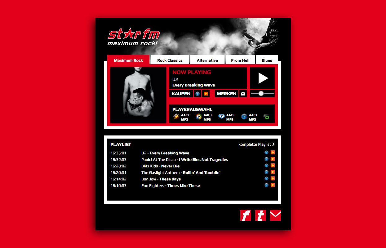 StarFm Web Radioplayer