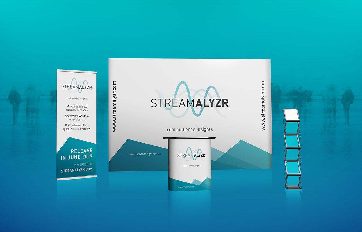 Streamalyrz Corporate Design Messestand
