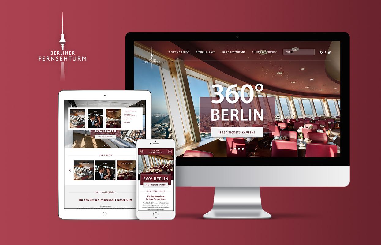 Berliner Fernsehturm responsive Website