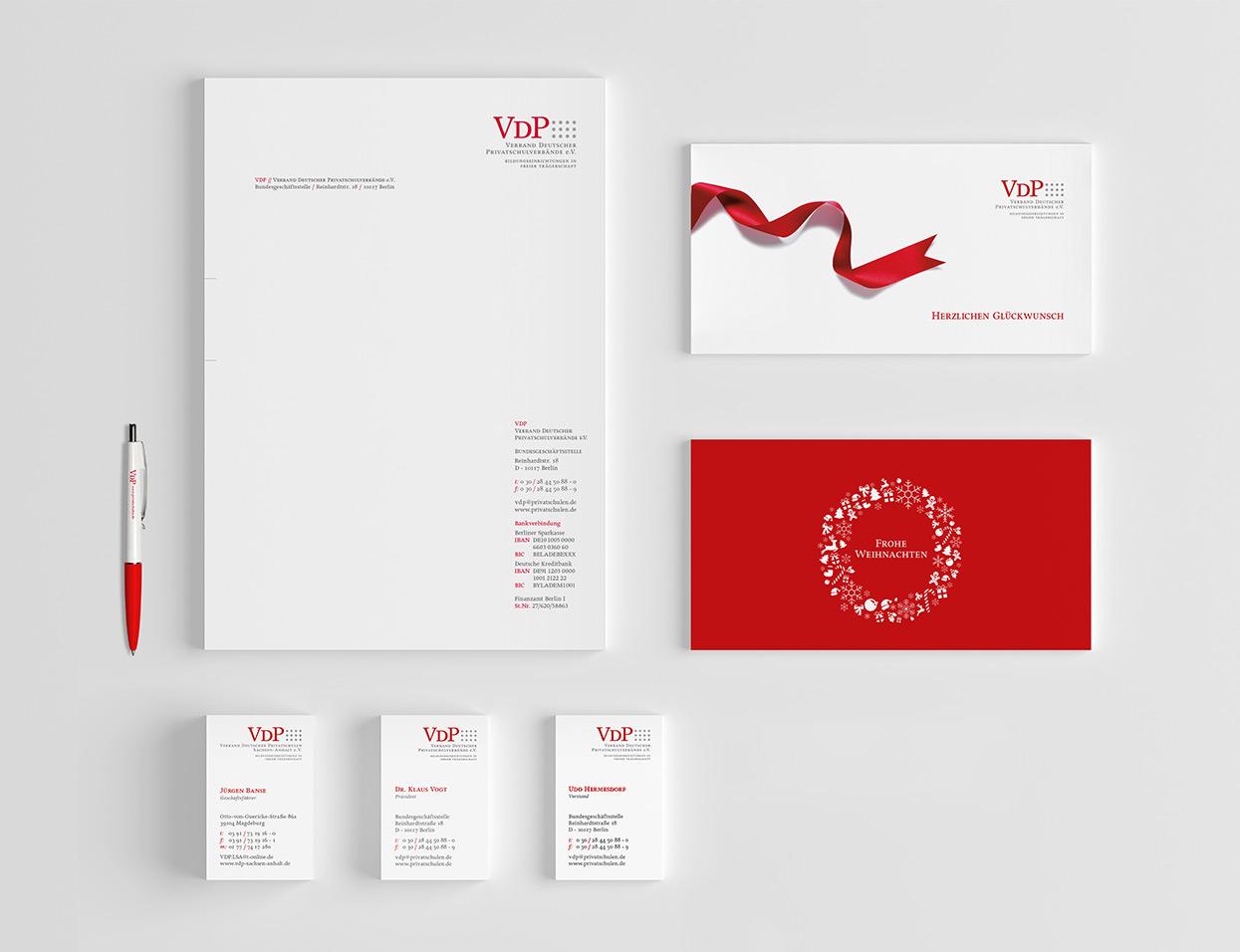 Verband Deutscher Privatschulverbände e.V. Geschäftsausstattung, Weihnachtskarte