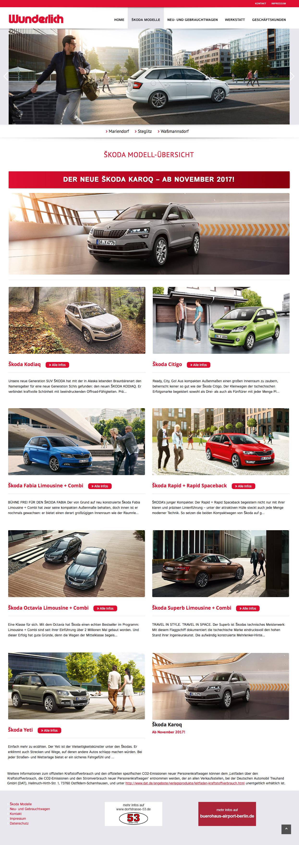 Autohaus Wunderlich Responsive Website