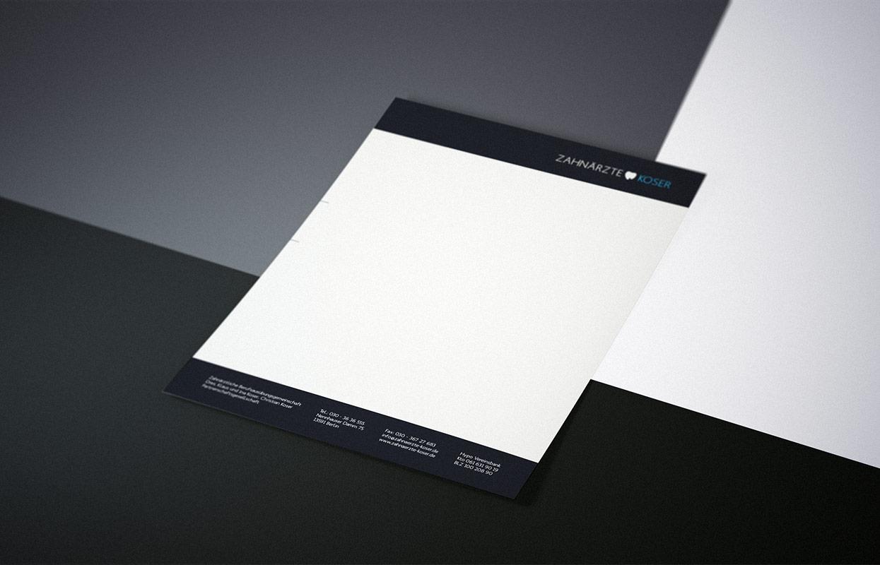 Zahnärzte Koser Print Briefbogen