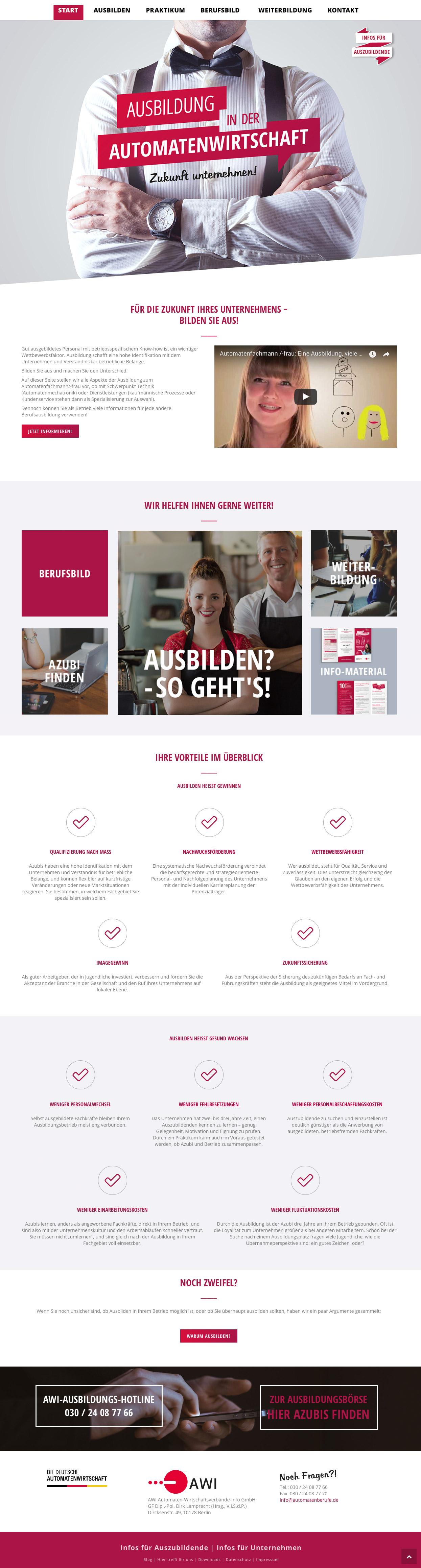 Ausbildung in der Automatenwirtschaft Webseite