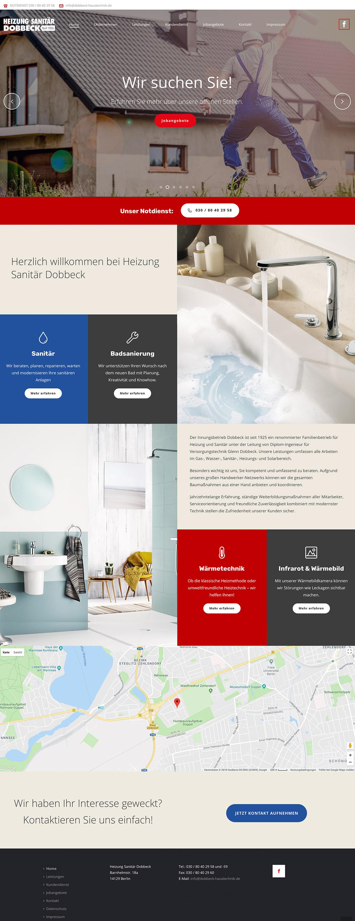 Heizung Sanitär Dobbeck Webseite
