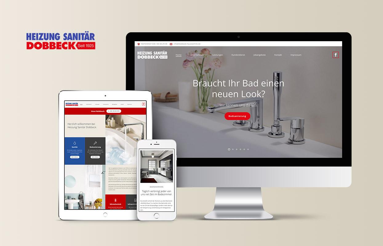 Heizung und Sanitär Dobbeck Webseite